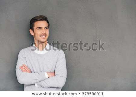 pensive casual man looks away stock photo © feedough