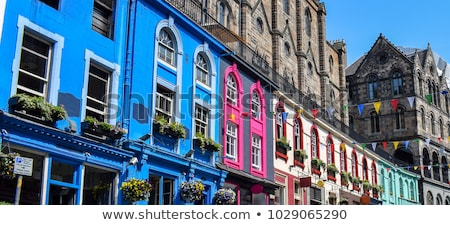 old streets of edinburgh stock photo © julietphotography