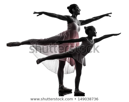Dois balé dançarinos isolado Foto stock © stepstock