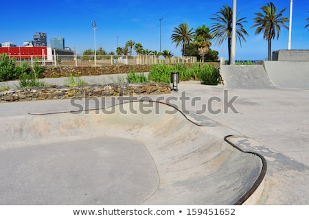 urban skatepark in Barcelona, Spain Stock photo © nito