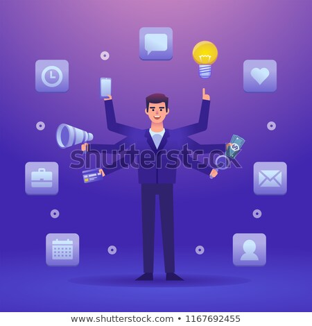 busy with multiple messages phone illustration Stock photo © alexmillos