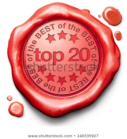 Top 20 in Charts - Stamp on Red Wax Seal. Stock photo © tashatuvango