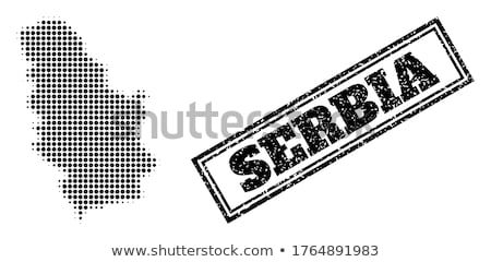 Black Serbia map Stock photo © Volina