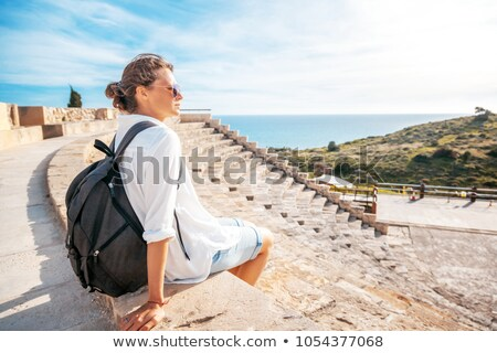 ruins of kourion overlooking mediterranean stock photo © kirill_m
