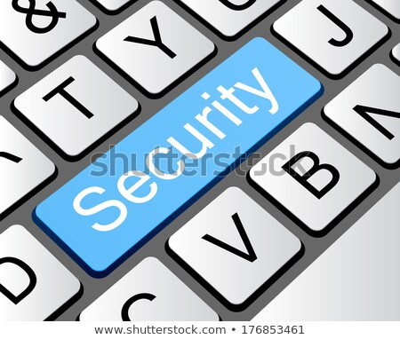 Safety concept: computer keyboard with Home security icon on enter button background Stock photo © fotoscool