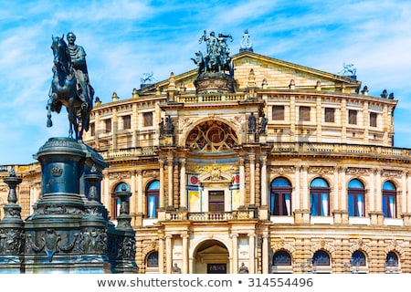 Statue opera Dresden Stock photo © w20er