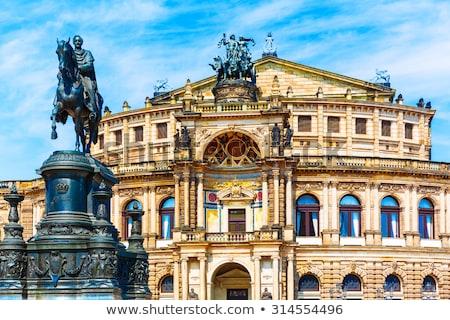 statue opera dresden stock photo © w20er