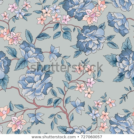 seamless chinese style floral pattern stock photo © creative_stock