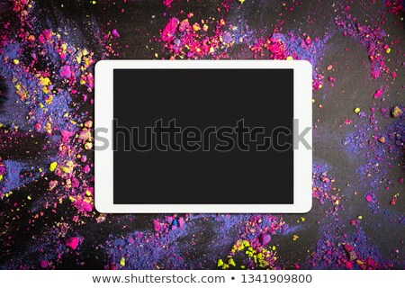 paars · tech · moderne · abstract · licht · effect - stockfoto © helenstock
