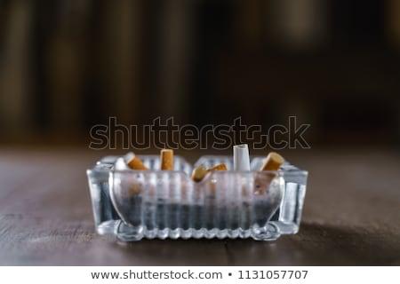 Yanan sigara küllük sonuçları sağlık duman Stok fotoğraf © mariephoto