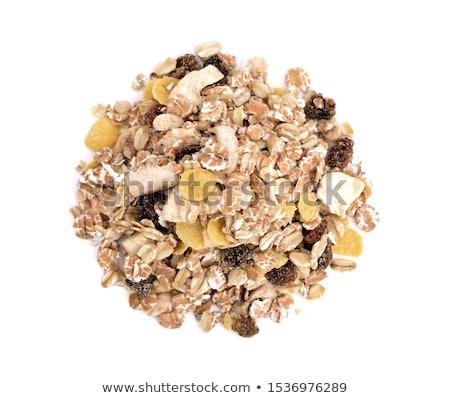 Copos de maíz muesli aislado alimentos cereales fondo blanco Foto stock © M-studio