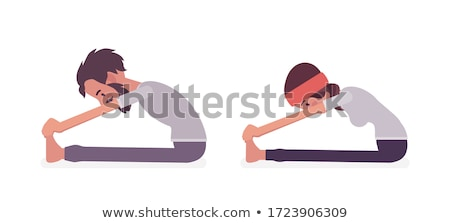 vector illustration of Yoga positions in Seated Forward Bend pose Stock photo © Istanbul2009
