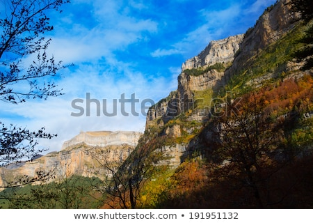 mondarruego peak pyrenees in valle de ordesa huesca spain stock photo © lunamarina