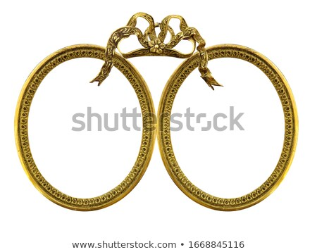 Stock photo: Oval photo frame (Clipping path!)