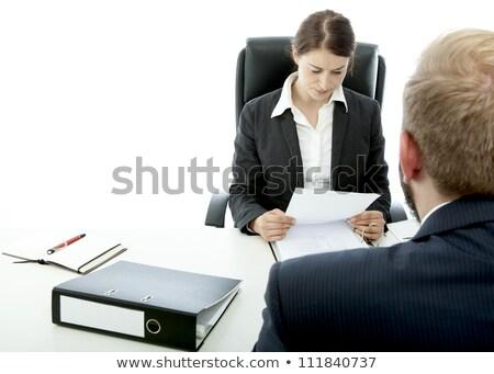 小さな ブルネット 女性 あごひげ ビジネスマン チーム ストックフォト © sebastiangauert