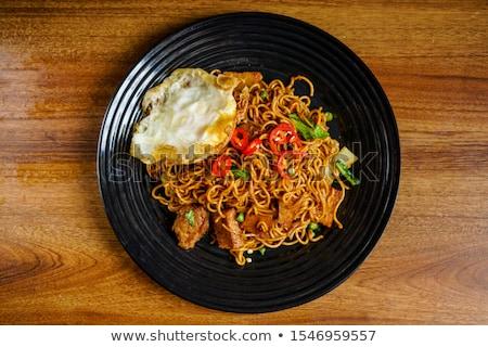 Malaysian style maggi goreng mamak  Stock photo © szefei