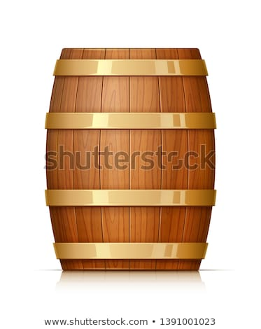 Wooden oaken barrel for beverages storing Stock photo © LoopAll