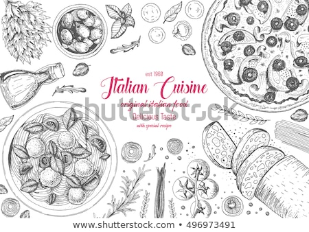Logo İtalyan mutfağı restoran parti sevmek şarap Stok fotoğraf © shawlinmohd