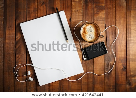Stock fotó: Empty Cup On Contemporary Workplace