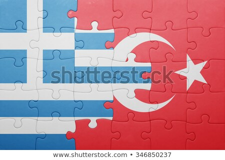 greek and turkish flags in puzzle stock photo © istanbul2009