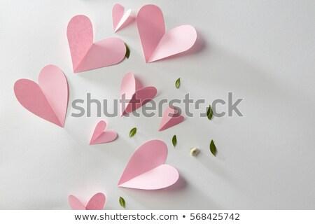 подарок сердце украшение изолированный белый счастливым Сток-фото © natika