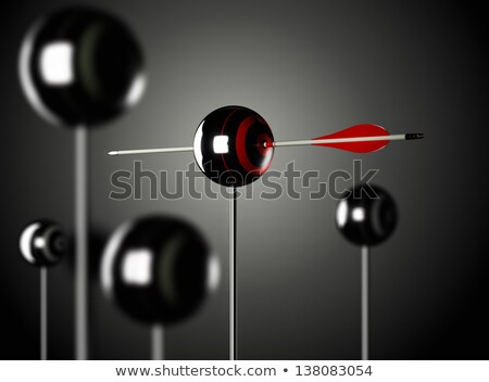 Quality Control - Arrows Hit in Red Mark Target. Stock photo © tashatuvango