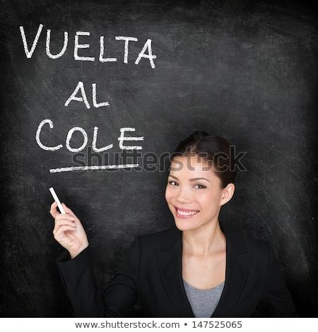 vuelta al cole, back to school written in spanish Stock photo © nito