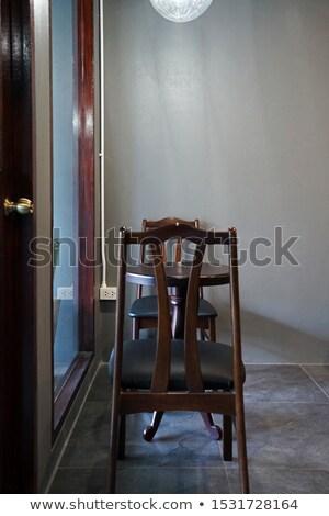 Eettafel ingesteld ingericht stijl voedsel Stockfoto © punsayaporn