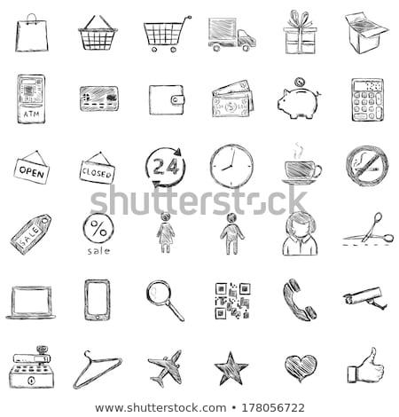 desenho · animado · assinar · alimentação · cigarro · estilo · de · vida - foto stock © lemonti