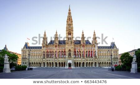 város · előcsarnok · Bécs · Ausztria · épület · utazás - stock fotó © pixachi