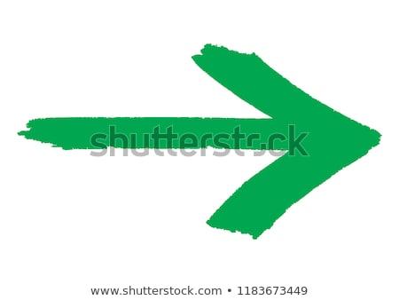 Keep it Simple on Green Direction Arrow Sign. Stock photo © tashatuvango