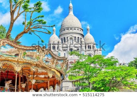 купол базилика Париж ретро иллюстрация Сток-фото © patrimonio