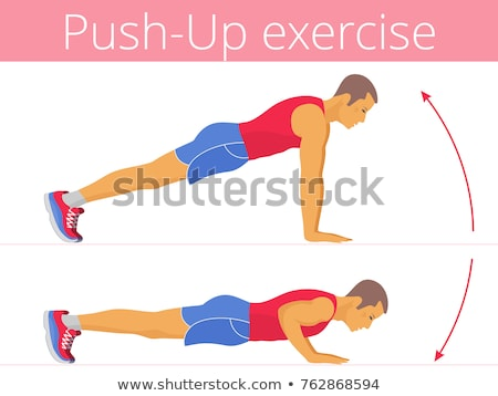 Push ups exercise man training pushup Stock photo © Maridav