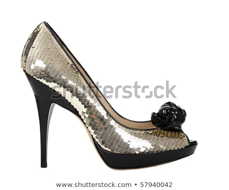 women's shoes with gold sequins Stock photo © manera
