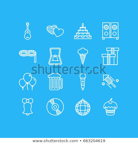 illustration with diamond guitar icon Stock photo © maximmmmum
