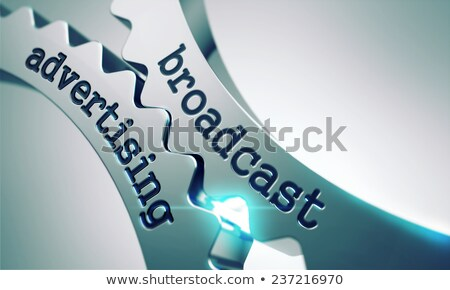 Adás hirdetés fogaskerekek mechanizmus fém kommunikáció Stock fotó © tashatuvango