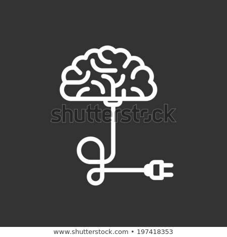 Plug мозг бизнесмен метафора находить Сток-фото © tintin75