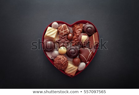chocolate pralines heart stock photo © jirkaejc