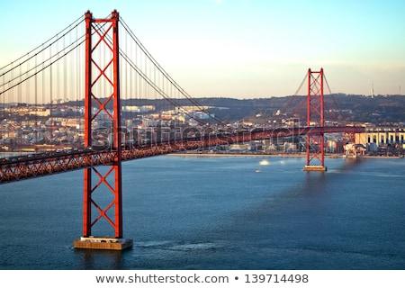 リスボン · 景観 · ポルトガル · 日没 · 市 · スカイライン - ストックフォト © joyr