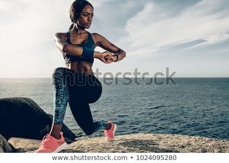ヨガ · 戻る · ストレッチング · 行使 · フィットネス · 美しい - ストックフォト © hasloo