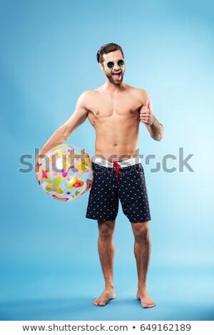 Gömleksiz genç jest seksi Stok fotoğraf © feedough