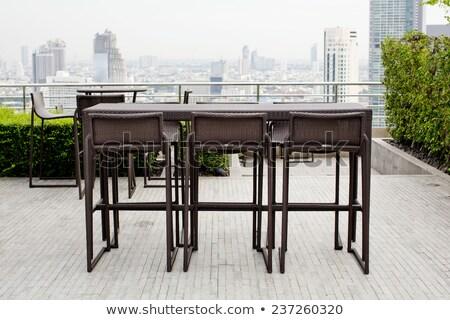 outdoor · restaurant · terras · meubels · zee · reizen - stockfoto © art9858