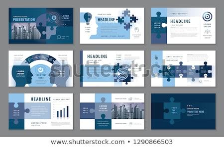 diariamente · notícia · azul · quebra-cabeça · branco · negócio - foto stock © tashatuvango