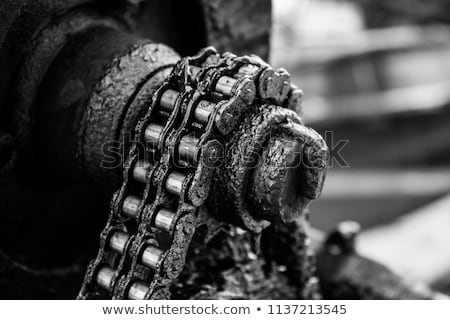 Onderhoud werk metaal versnellingen zwarte business Stockfoto © tashatuvango