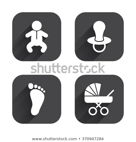 Children buggy app icon with long shadow Stock photo © Anna_leni