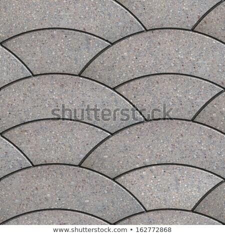 Gray Paving Slabs of the Wavy Form. Stock photo © tashatuvango