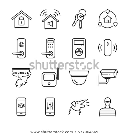 home security icons set stock photo © anna_leni