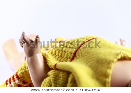 hand of beatiful scary doll like from horror movie Stock photo © jarin13