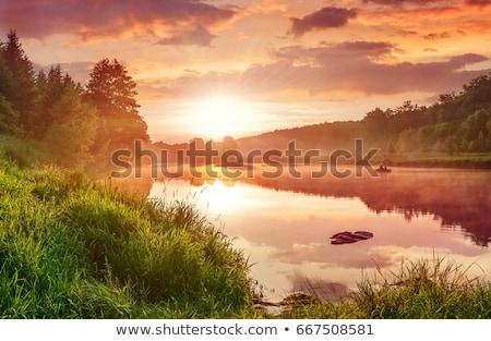 絵のように美しい 風景 川 峡谷 空 ストックフォト © OleksandrO