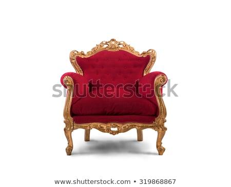 красный · кожа · кресло · стены · текстуры - Сток-фото © ozaiachin